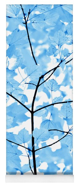 Blue Leaves Melody Yoga Mat