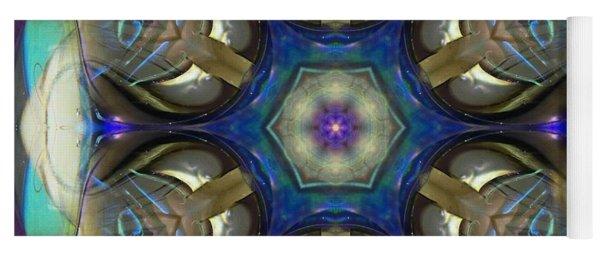 Blue Light Angel Mandala Yoga Mat