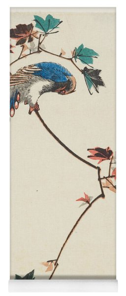 Blue Magpie On Maple Branch Yoga Mat