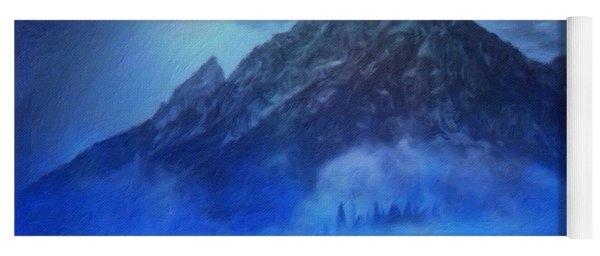 Blue Mist Rising Yoga Mat