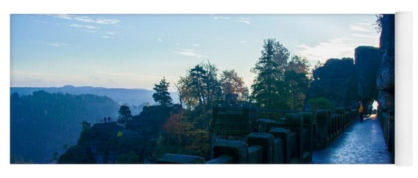 Blue Morning On The Bastei Yoga Mat