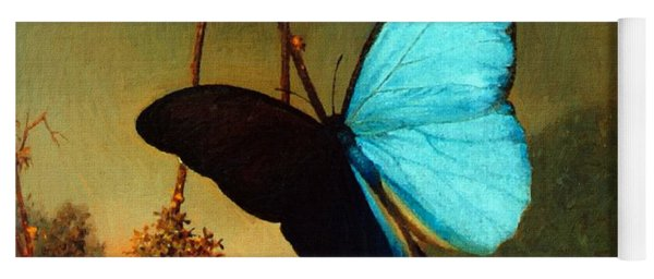 Blue Morpho Butterfly Yoga Mat