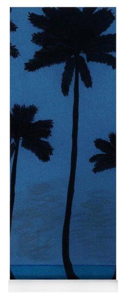 Blue - Night - Beach Yoga Mat