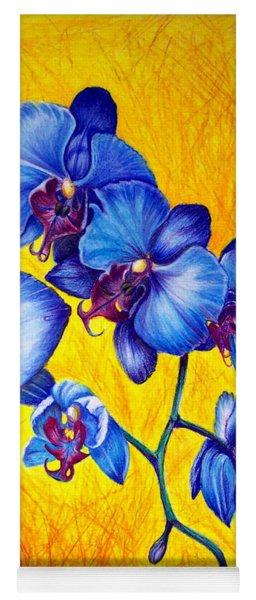 Blue Orchids 1 Yoga Mat