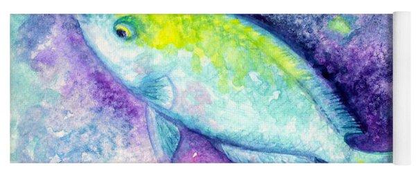 Blue Parrotfish Yoga Mat