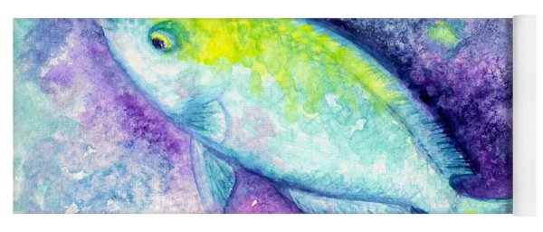 Blue Parrotfish Yoga Mat