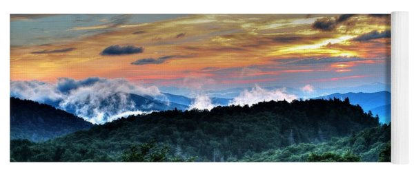 Blue Ridge Mountain Sunrise  Yoga Mat