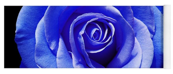 Blue Rose Yoga Mat