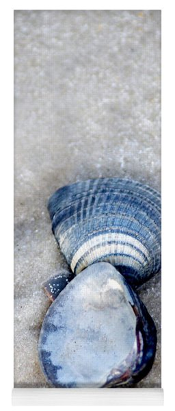 Blue Seashells Yoga Mat