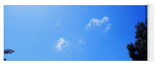 Blue Sky And Sunshine Yoga Mat