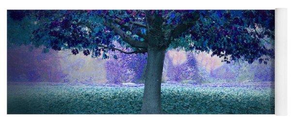 Blue Tree Monet Painting Background Yoga Mat