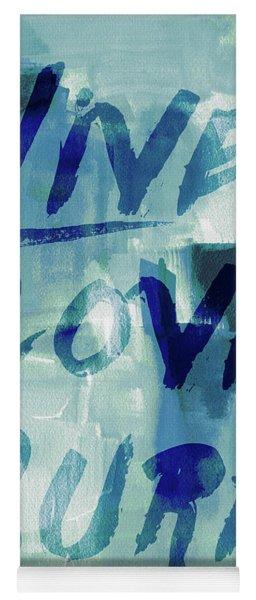 Blue Waves II Yoga Mat