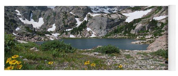 Yoga Mat featuring the photograph Bluebird Lake - Colorado by Cascade Colors