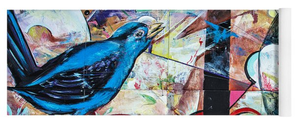Bluebird Sings With Happiness Yoga Mat
