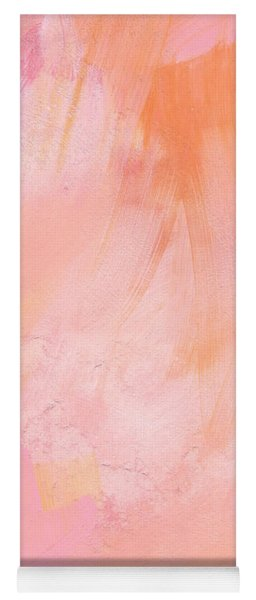 Blush- Abstract Painting In Pinks Yoga Mat