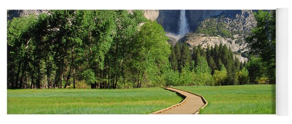 Boardwalk To Yosemite Falls  Yoga Mat