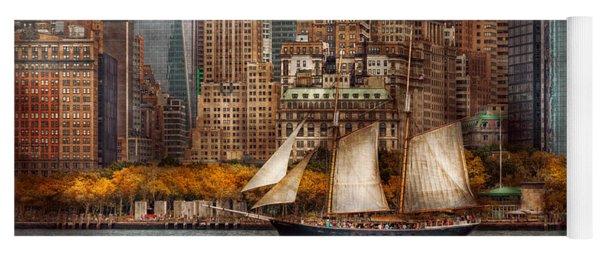 Boat - Governors Island Ny - Lower Manhattan Yoga Mat
