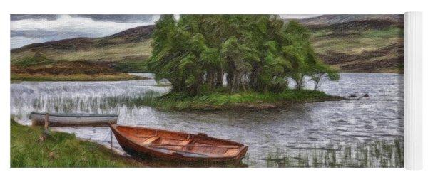 Boat On Lake Bank 1929 Yoga Mat