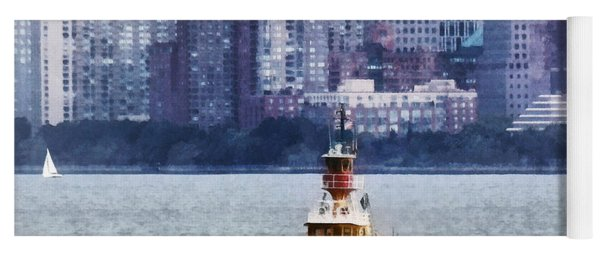 Boat - Tugboat By Manhattan Skyline Yoga Mat
