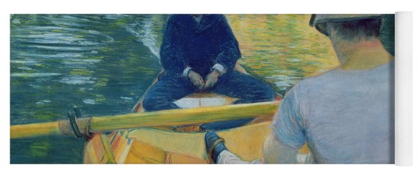 Boaters On The Yerres Yoga Mat