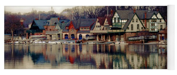 Boathouse Row Philadelphia Yoga Mat