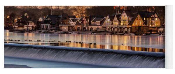 Boathouse Row Philadelphia Pa Yoga Mat