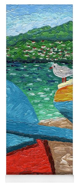 Boats And Bird At Rest Yoga Mat