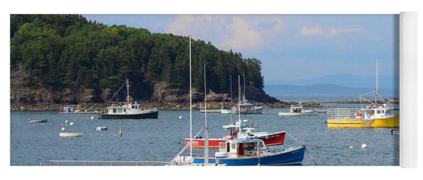 Boats In Bar Harbor Yoga Mat
