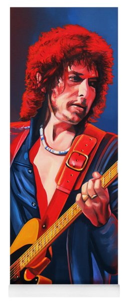 Bob Dylan Painting Yoga Mat