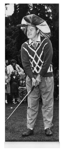 Bob Hope At Bing Crosby National Pro-am Golf Championship  Pebble Beach Circa 1955 Yoga Mat