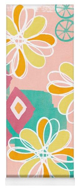 Boho Floral Garden Yoga Mat