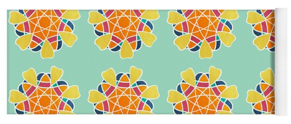 Boho Mandala Print Yoga Mat