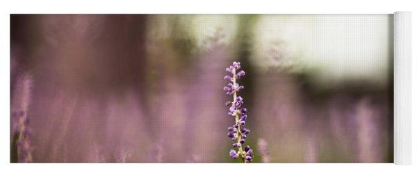 Bokeh With Purple Wildflower Yoga Mat