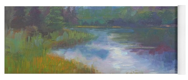 Bonnie Lake - Alaska Misty Landscape Yoga Mat