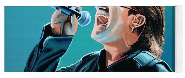 Bono Of U2 Painting Yoga Mat