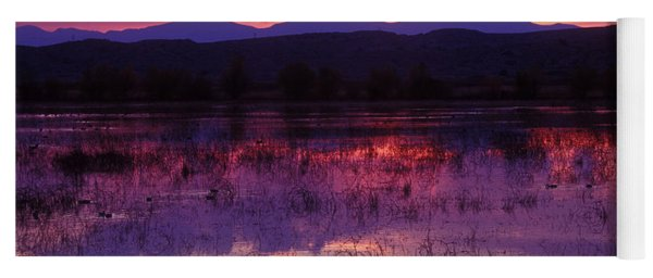 Bosque Sunset - Purple Yoga Mat