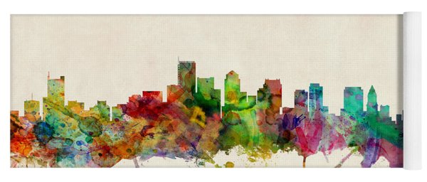 Boston Massachusetts Skyline Yoga Mat