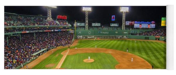 Boston Red Sox And New York Yankees At Fenway Park - Art Yoga Mat