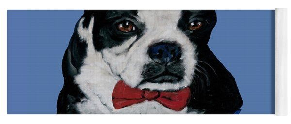 Boston Terrier With A Bowtie Yoga Mat
