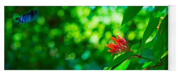 Botanical Garden Butterfly Yoga Mat