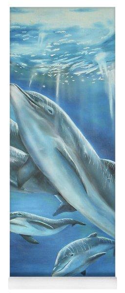 Bottlenose Dolphins Yoga Mat