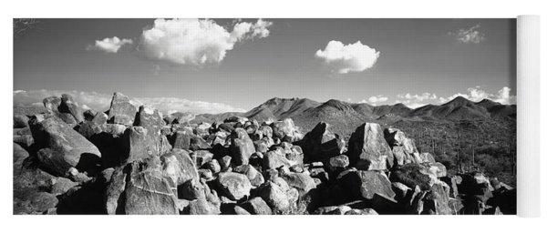 Boulders On A Landscape, Saguaro Yoga Mat