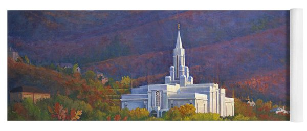 Bountiful Temple In The Mountains Yoga Mat