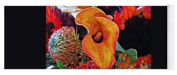 Bouquet Of Cut Flowers Orange Calla Lily Yoga Mat
