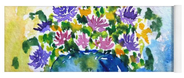 Bouquet Of Flowers In A Vase Yoga Mat