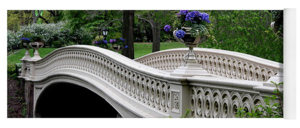 Bow Bridge Flower Pots - Central Park N Y C Yoga Mat