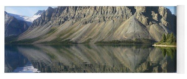 Bow Lake And Crowfoot Mts Banff Yoga Mat