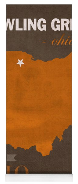 Bowling Green State University Falcons Ohio College Town State Map Poster Series No 021 Yoga Mat