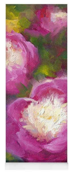 Bowls Of Beauty - Alaskan Peonies Yoga Mat