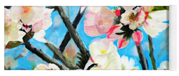 Branches Of Almond Tree Yoga Mat